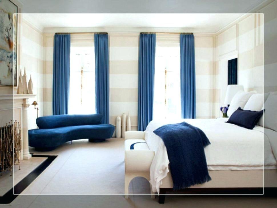 blue walls brown furniture