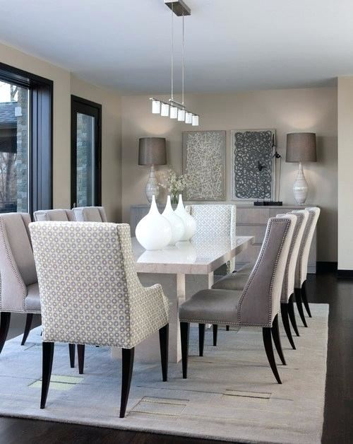 dining kitchen design in a modern style with a dining table and kitchen furniture