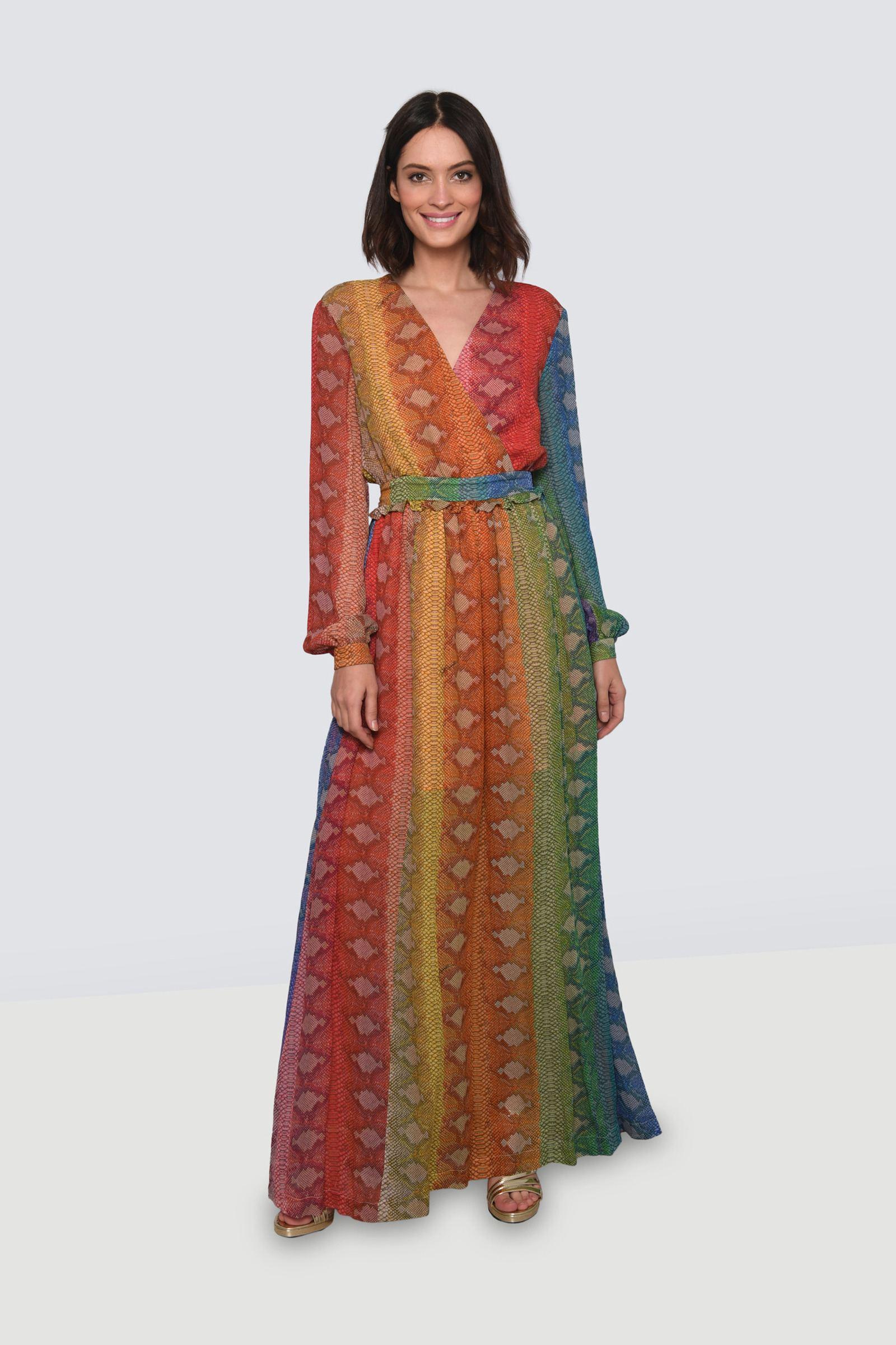 Savilla Silk Crepe de Chine Mini Wrap Dress in Parang Wisteria by DVF